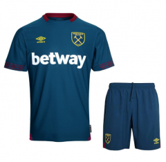 Youth West Ham United Away Uniform 2018-2019 ,Jersey+Shorts