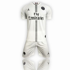 Paris Jordan Third Away UCL White Uniform 2018-2019 ,Jersey+Shorts