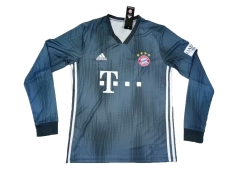 Bayern Munchen Third Away Long Sleeve Soccer Jersey Shirt 2018-2019
