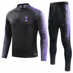 Tottenham Hotspur Black Training Suit 2018-2019