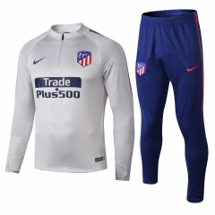 Atletico Madrid Grey White Training Suit 2018-2019 [With Sponsor]