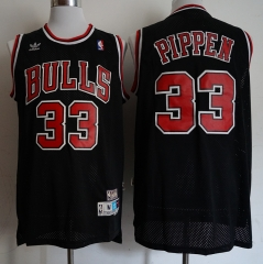 Men NBA Chicago Bulls #33 Scottie Pippen Swingman City Edition Jersey Black
