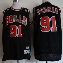 Men NBA Chicago Bulls #91 Dennis Rodman Swingman City Edition Jersey Black