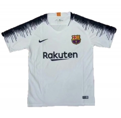 2018 Barcelona White Training Short Shirt Jersey