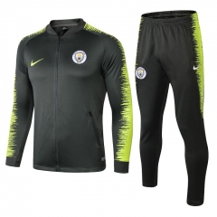Manchester City Green Jacket Suit 2018-2019