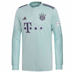 Bayern Munchen Away Long Sleeve Soccer Jersey Shirt 2018-2019