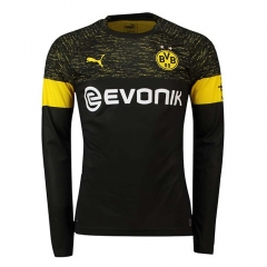 Borussia Dortmund Away Long Sleeve Soccer Jersey Shirt 2018-2019