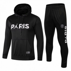 Paris Black Jordan UCL Hoodie Training Suit 2018-2019