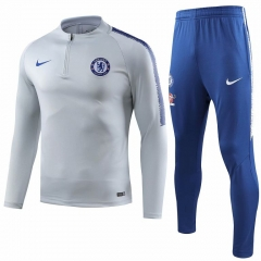 Chelsea Grey White Training Suit 2018-2019