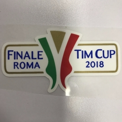 2018 Coppa Italia Finale Roma Patches+2018-2019 Serie A Silicone Soccer Patch