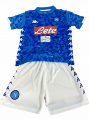 Youth Napoli Home Uniform 2018-2019 ,Jersey+Shorts [China Quality]
