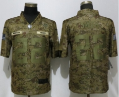 NEW Nike Dallas Vikings 22 Smith Nike Camo Salute to Service Limited Jersey