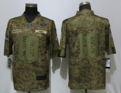 New Nike San Francisco 49ers 10 Garoppolo Nike Camo Salute to Service Limited Jersey