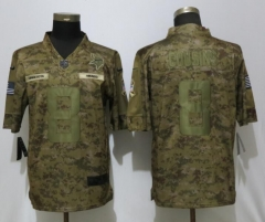 NEW Nike Dallas Vikings 8 Cousins Nike Camo Salute to Service Limited Jersey