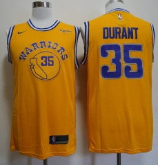 Men NBA Golden State Warriors #35 Kevin Durant Retro version Jersey