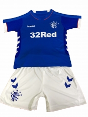 Youth Glasgow Rangers Away Uniform 2018-2019 ,Jersey+Shorts [China Quality]