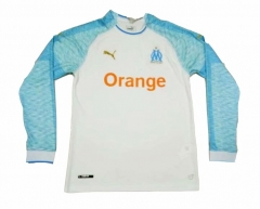Marseille Home Long Sleeve Soccer Jersey Shirt 2018-2019