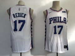Men NBA Philadelphia 76ers #17 Redick Swingman City Edition Jersey 2 Color