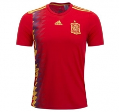 2018 World Cup Spain Home Red Soccer Jersey