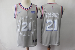 Men NBA Philadelphia 76ers #21 Joel Embiid Swingman City Edition Jersey
