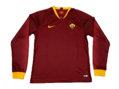 Roma Home Long Sleeve Soccer Jersey Shirt 2018-2019