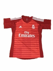 Real Madrid Red Goalkeeper Soccer Jersey Shirt 2018-2019