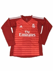 Real Madrid Red Goalkeeper Long Sleeve Soccer Jersey Shirt 2018-2019