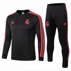Real Madrid Black Training Suit 2018-2019