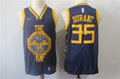 Men NBA Golden State Warriors #35 Kevin Durant Swingman Jersey
