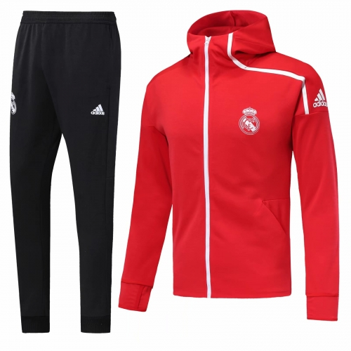 Real Madrid Red Jacket Suit 2018-2019