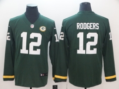 Men NFL Green Bay Packers RODGERS Long Sleeve Jersey