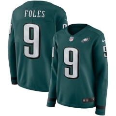 Women NFL Philadelphia Eagles FOLES Long Sleeve Jersey