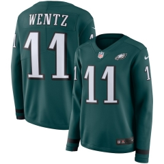 Women NFL Philadelphia Eagles WENTZ Long Sleeve Jersey
