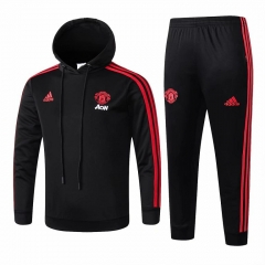 Youth Manchester United Black Hoodie Training Suit 2018-2019