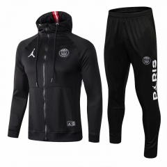 Paris Jordan Black Hoodie Jacket Suit 2018-2019