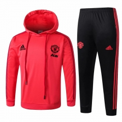 Youth Manchester United Red Hoodie Training Suit 2018-2019