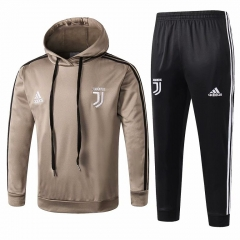Youth Juventus Khaki Hoodie Training Suit 2018-2019
