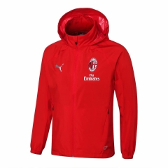 AC Milan Red Windbreaker 2018-2019