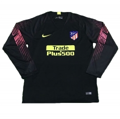 Atletico Madrid Black Goalkeeper Long Sleeve Soccer Jersey Shirt 2018-2019