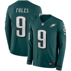 Men NFL Philadelphia Eagles FOLES Long Sleeve Jersey