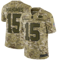 Men NFL Kansas City Chiefs MAHOMES Camouflage Jersey