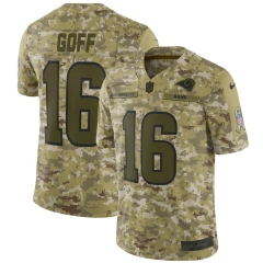 Men NFL Los Angeles Rams GOFF Camouflage Jersey