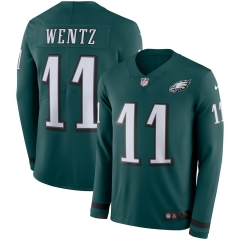 Men NFL Philadelphia Eagles WENTZ Long Sleeve Jersey