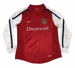 2000 Arsenal Home Long Sleeve Retro Soccer Jersey Shirt