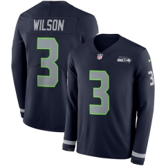 Men NFL Seattle Seahawks WILSON Long Sleeve Jersey