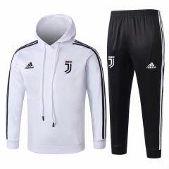 Youth Juventus White Hoodie Training Suit 2018-2019