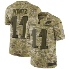 Men NFL Philadelphia Eagles WENTZ Camouflage Jersey