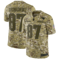 Men NFL New England GRONKOWSKI Camouflage Jersey