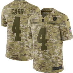 Men NFL Oakland Raiders CARR Camouflage Jersey