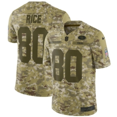 Men NFL San Francisco 49ers RICE Camouflage Jersey